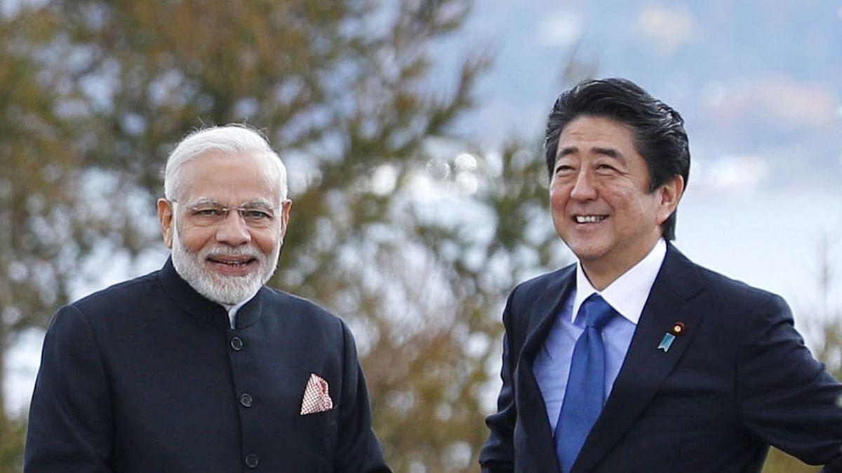 प्रधानमंत्री नरेंद्र मोदी और जापानी प्रधानमंत्री शिंजो आबे