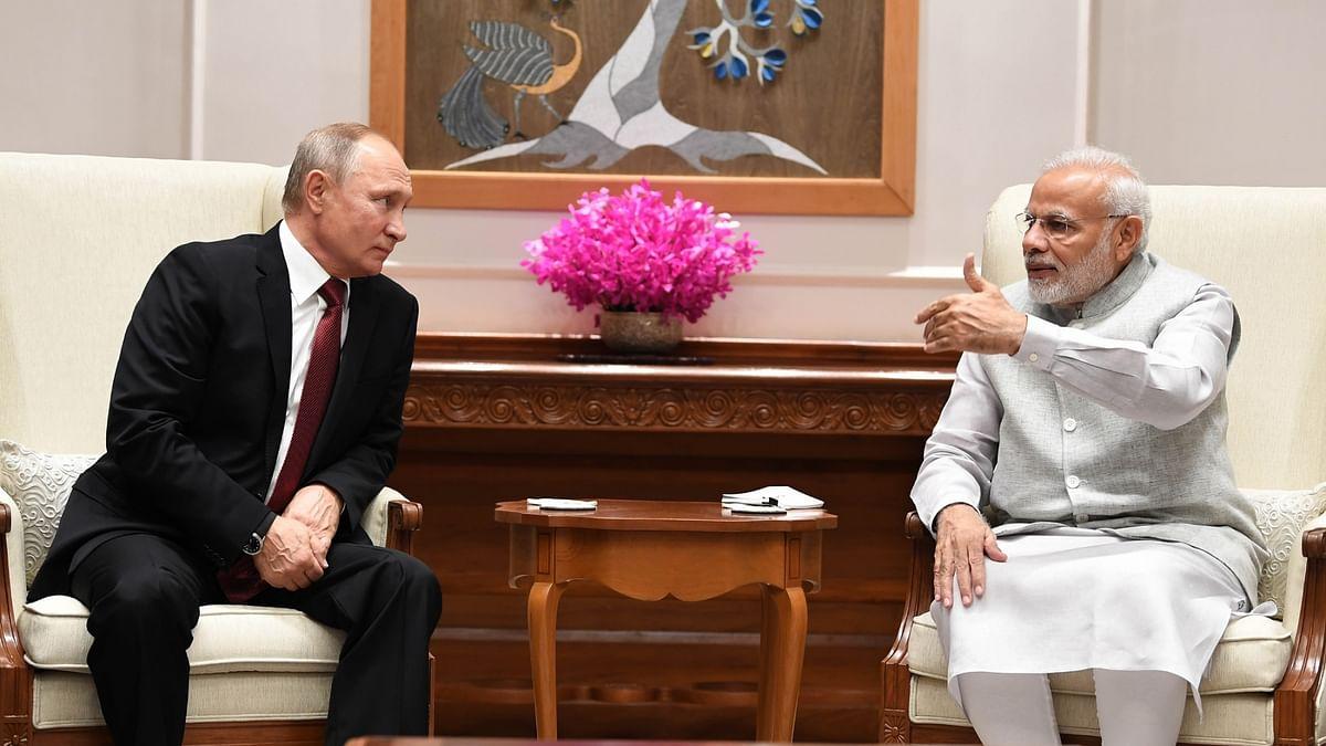 प्रधानमंत्री नरेंद्र मोदी और रूस के राष्ट्रपति व्लादिमीर पुतिन