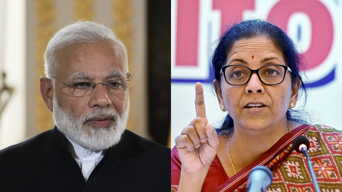 प्रधानमंत्री नरेंद्र मोदी और रक्षा मंत्री निर्मला सीतारमण