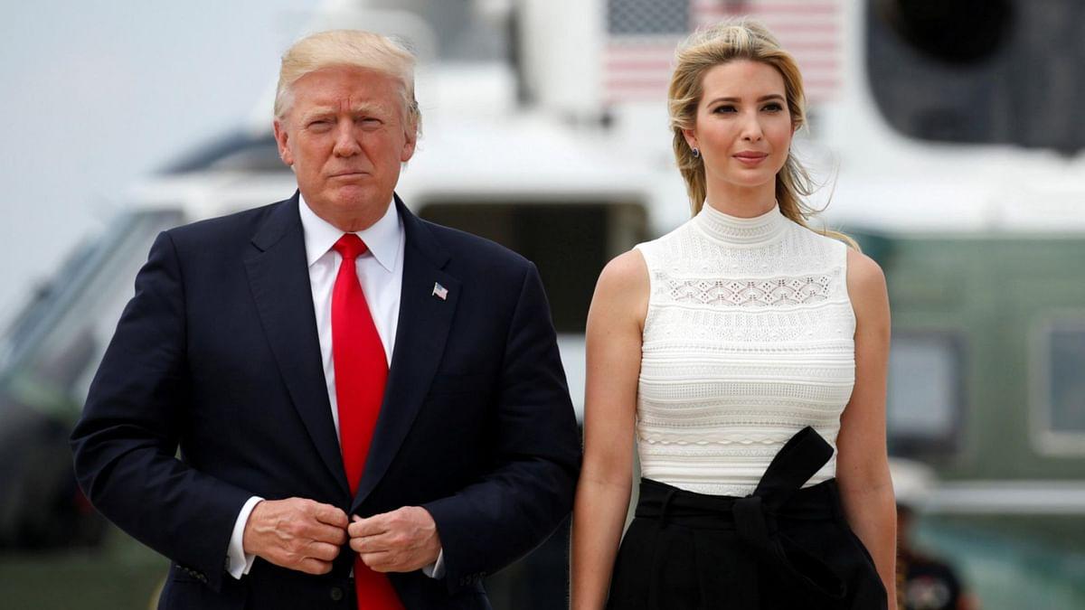 अमेरिकी राष्ट्रपति डोनाल्ड ट्रंप और इवांका ट्रंप