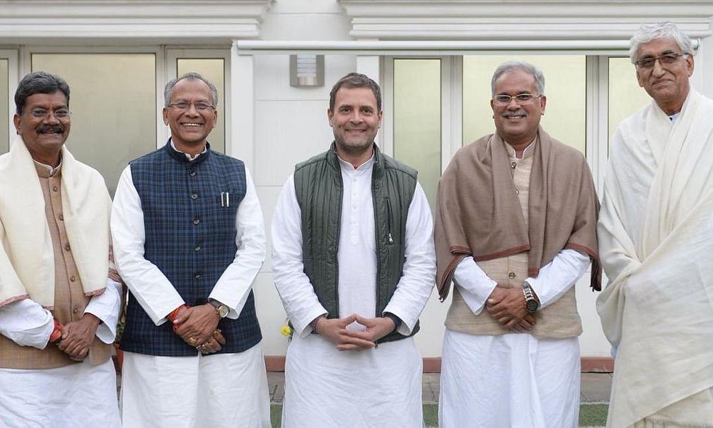 छत्तीसगढ़ के मुख्यमंत्री सस्पेंस पर राहुल का दिलचस्प ट्वीट, MP, राजस्थान की तरह शेयर की फोटो