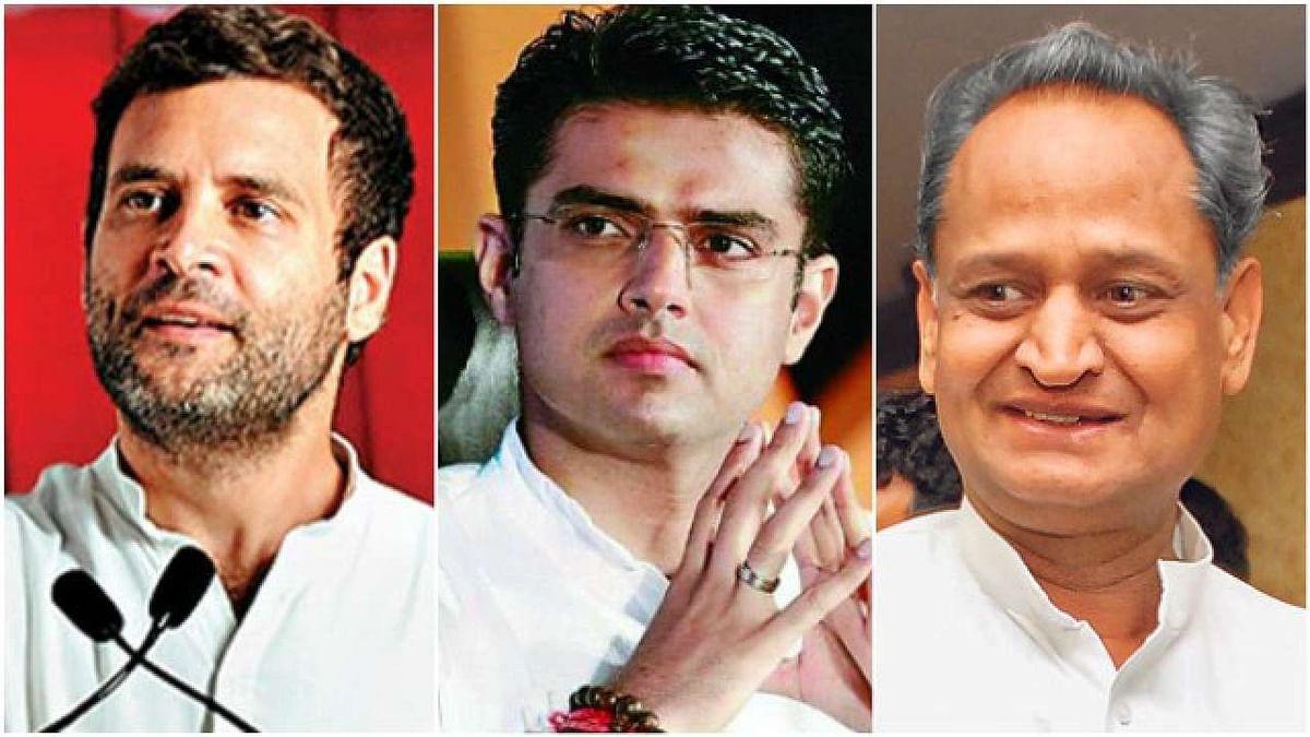 कांग्रेस अध्यक्ष राहुल गांधी, सचिन पायलट और शोक गहलोत