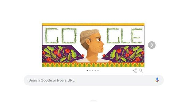 Today's Google Doodle बाबा आमटे