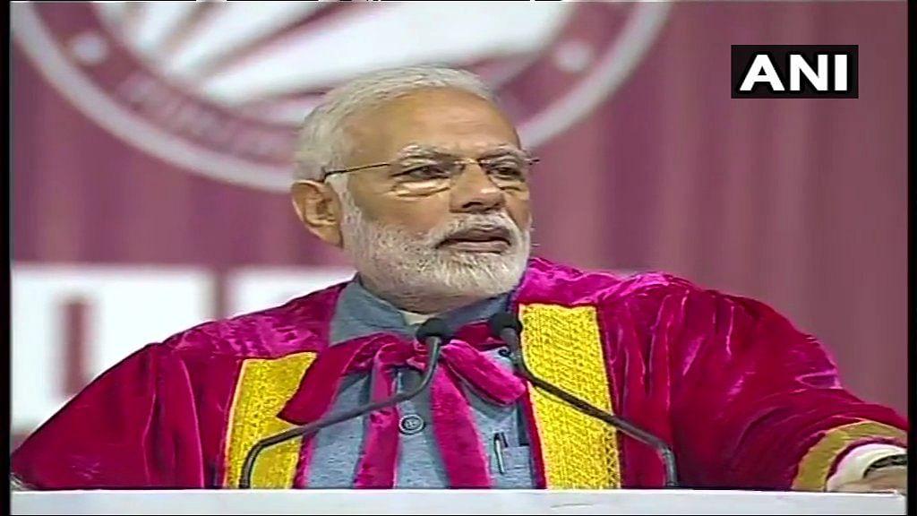 प्रधानमंत्री नरेंद्र मोदी इंडियन साइंस कांग्रेस में