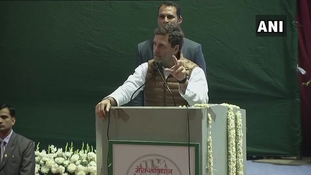 Rahul Gandhi at AICC minority department national convention