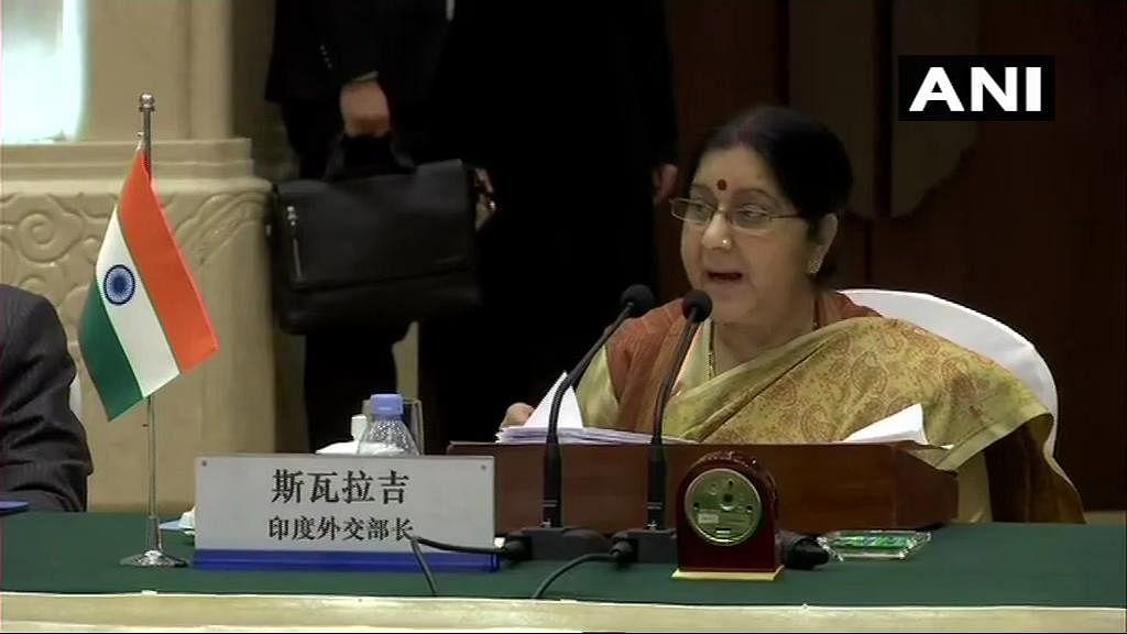 विदेश मंत्री सुषमा स्वराज चीन के दौरे पर