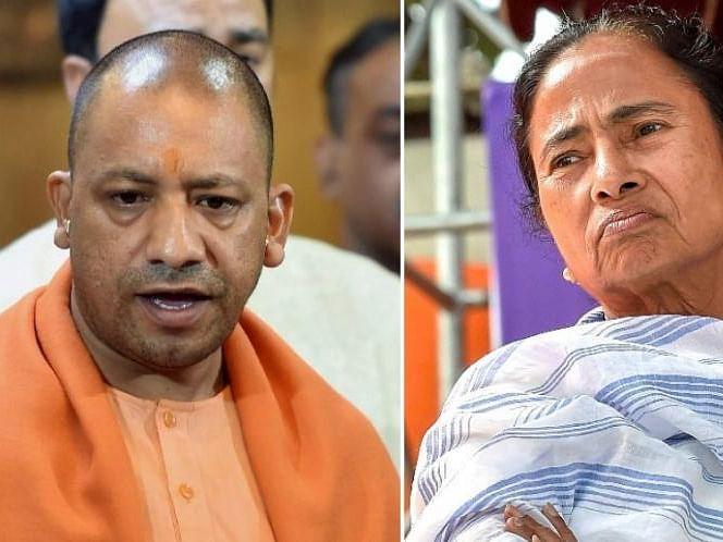 योगी आदित्यनाथ की रैली से पहले भाजपा ने ममता पर साधा निशाना, ट्वीट कर कहा- 'How's the Khauf (खौफ)?'