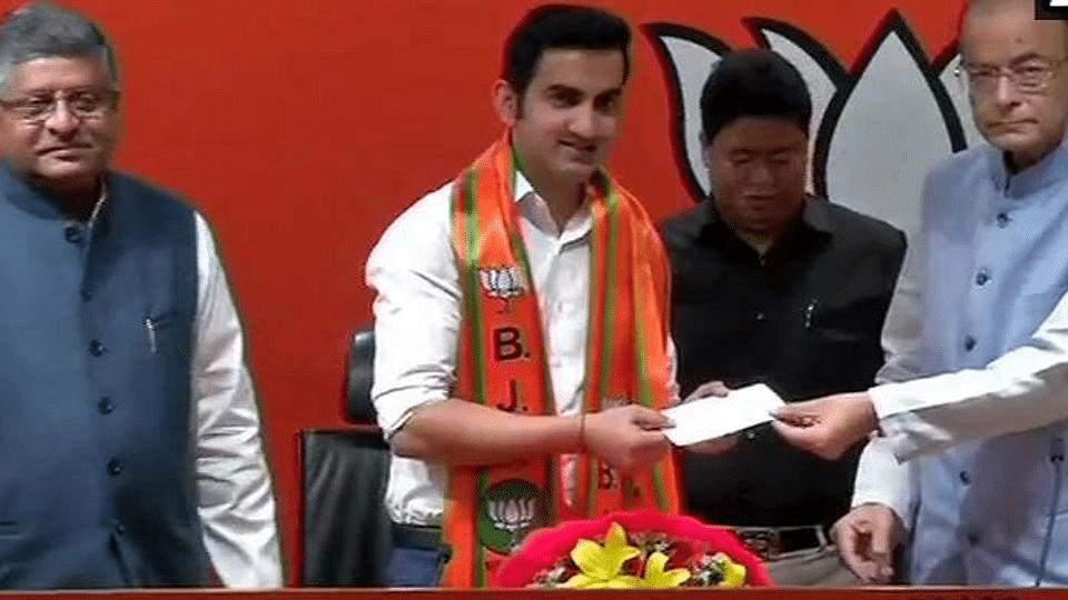 Gautam gambhir join Bjp