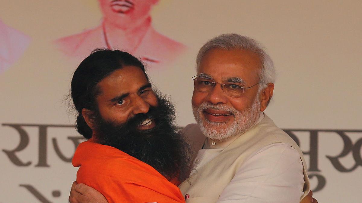 योग गुरु बाबा रामदेव और प्रधानमंत्री नरेंद्र मोदी