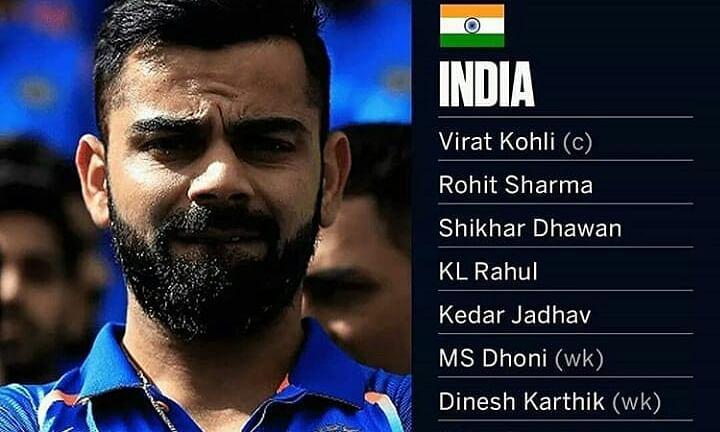 विश्व कप के लिए भारतीय टीम का ऐलान ! देखें कौन हैं वो 15 खिलाडी।