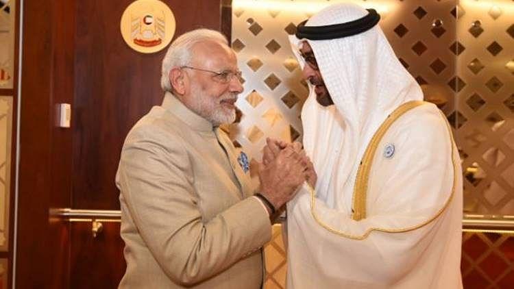 "प्रधानमंत्री मोदी को मिला यूएई का सर्वोच सम्मान ""जायेद मेडल"""