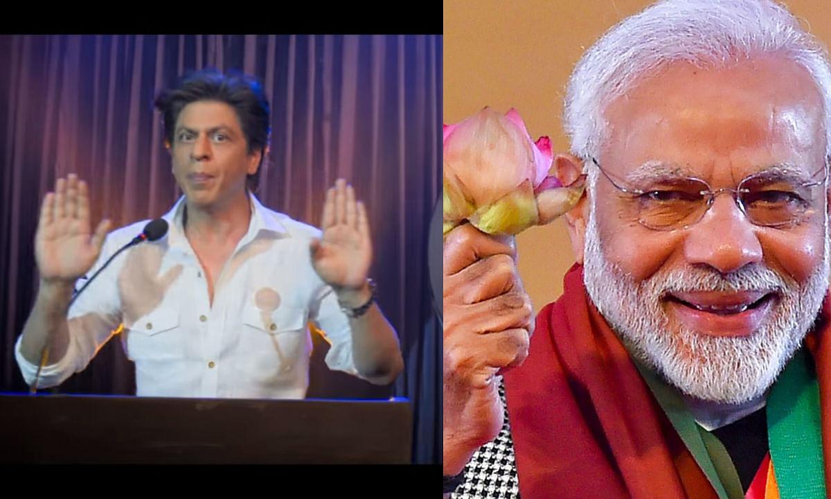 Video: आखिर शाहरुख खान ने पीएम मोदी की बात मान कर उनके लिए गाना गा ही दिया !