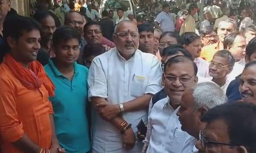 बिहार: केंद्रीय मंत्री गिरिराज सिंह ने किया अदालत में समर्पण