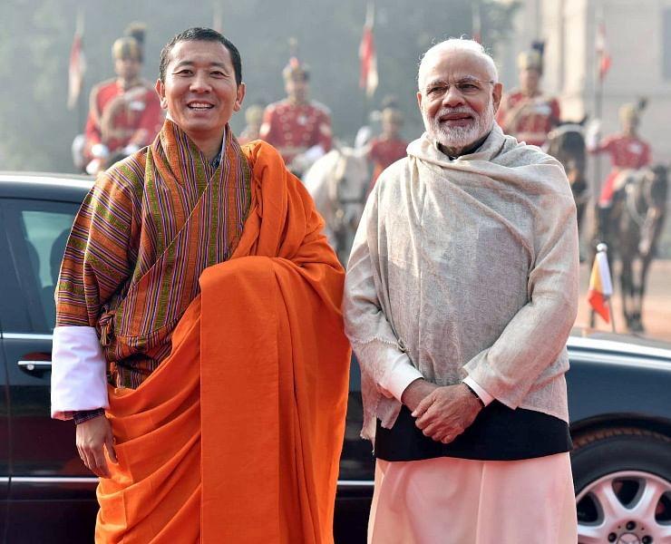 Bhutan PM Lotay Tshering with PM Modi
