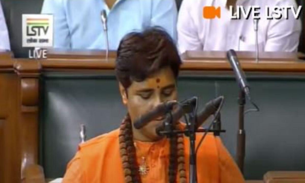 साध्वी प्रज्ञा ठाकुर के शपथ ग्रहण में हुआ हंगामा, प्रोटेम स्पीकर ने  कहा संविधान के अनुसार चले