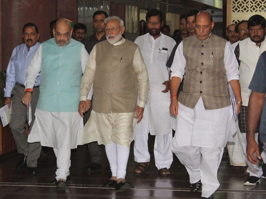 PM  Modi, Amit Shah, Rajnath Singh
