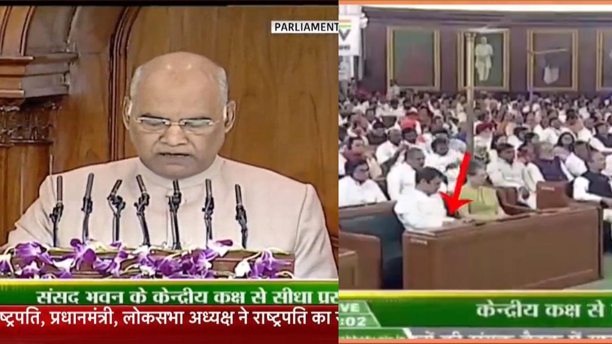 राहुल गांधी ने राष्ट्रपति के अभिभाषण का किया अपमान