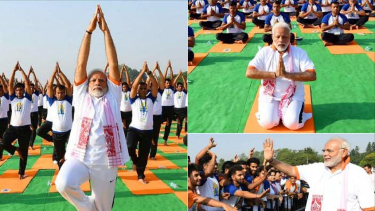 अंतर्राष्ट्रीय योग दिवस पर पीएम मोदी