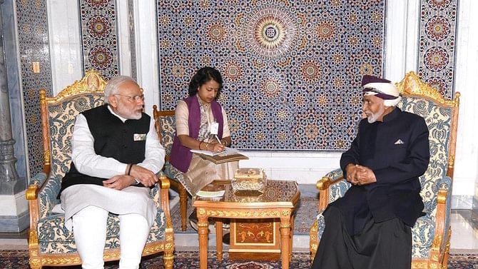 PM Modi with Qaboos bin Said al Said