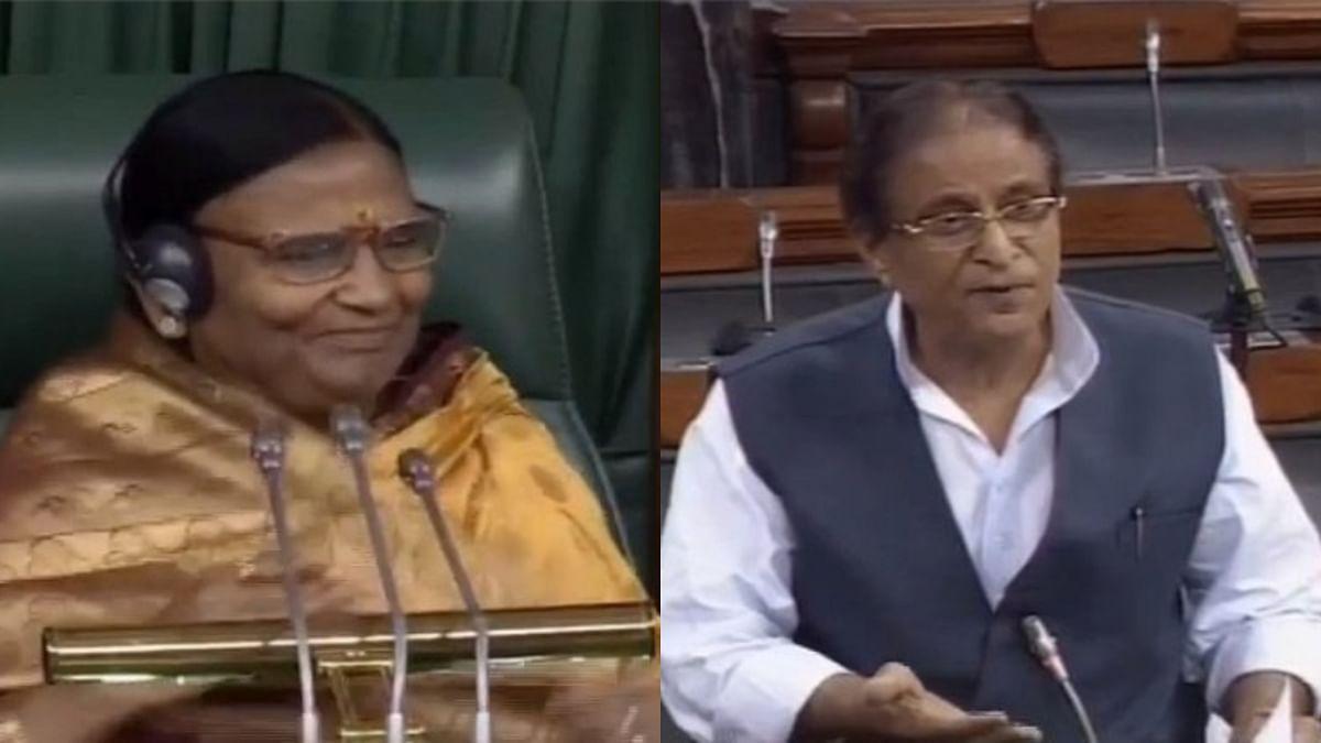 BJP MP Rama Devi and SP MP Azam Khan