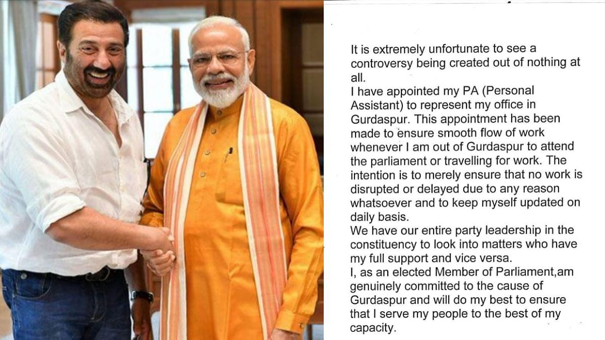 प्रधानमंत्री  मोदी के साथ सनी देओल