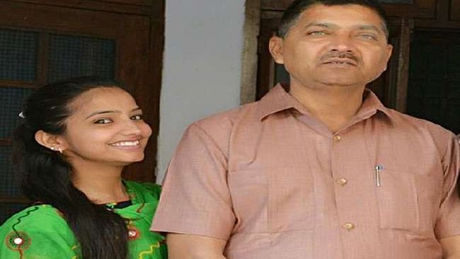 Sakshi Mishra with her Father Rajesh Mishra