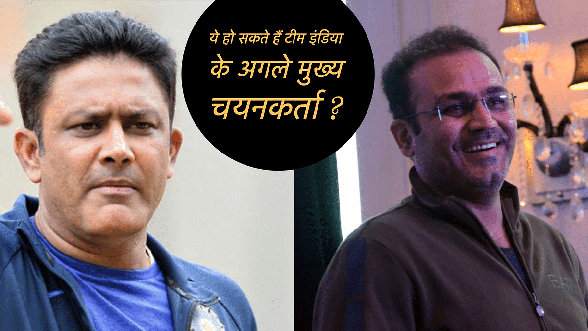 Anil Kumble and Virendra Sehwag