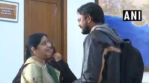 Sushma Swaraj and Hamid Ansari