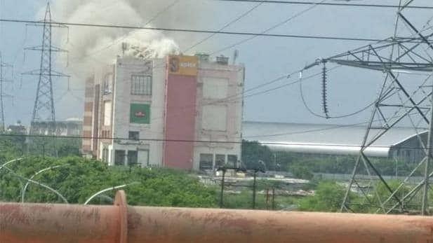 नोएडा के स्पाइस मॉल में आग