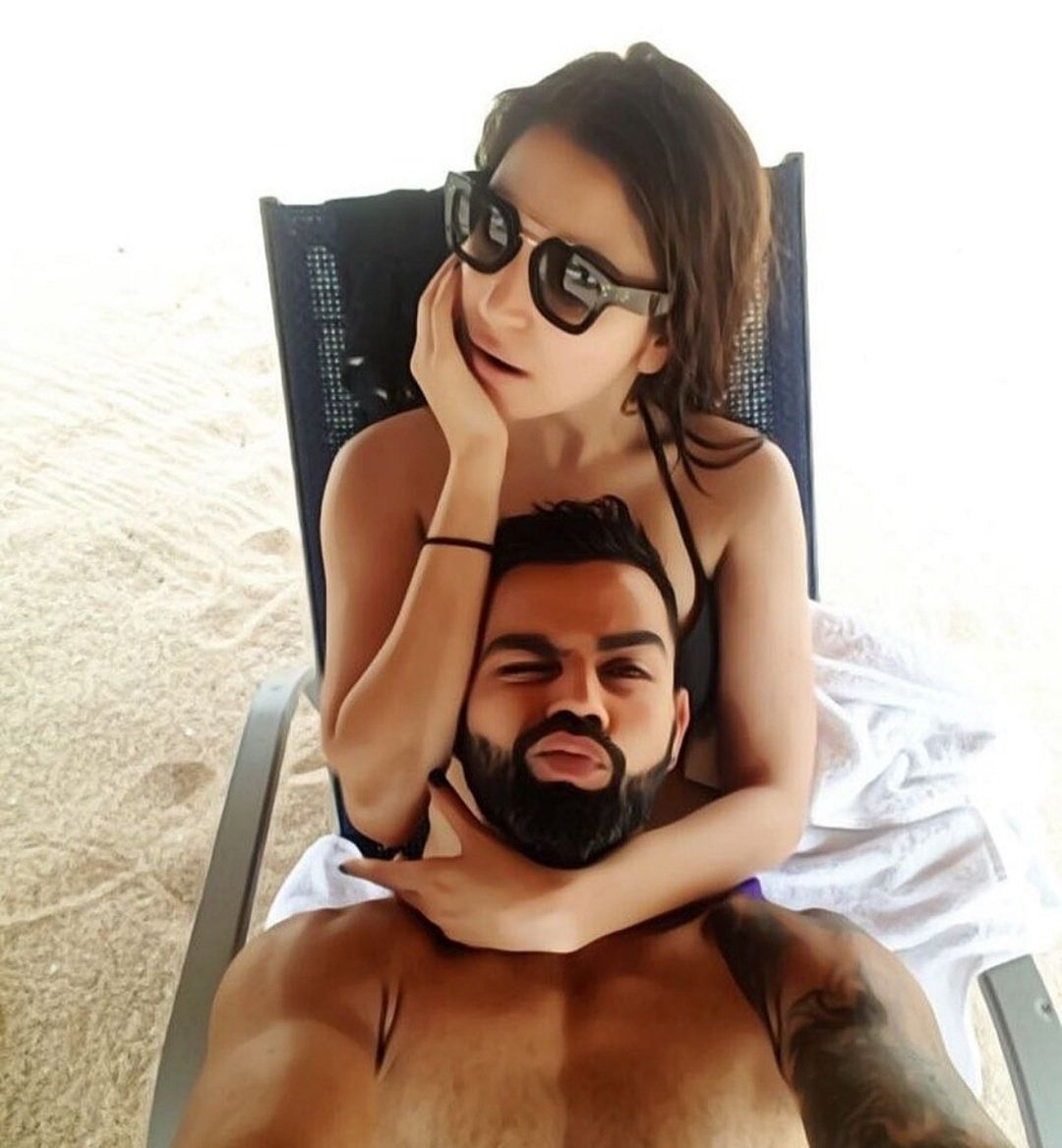 Virat Anushka set the temperature soaring with beach