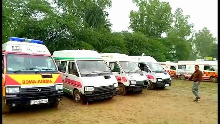ambulance Drivers strike in up