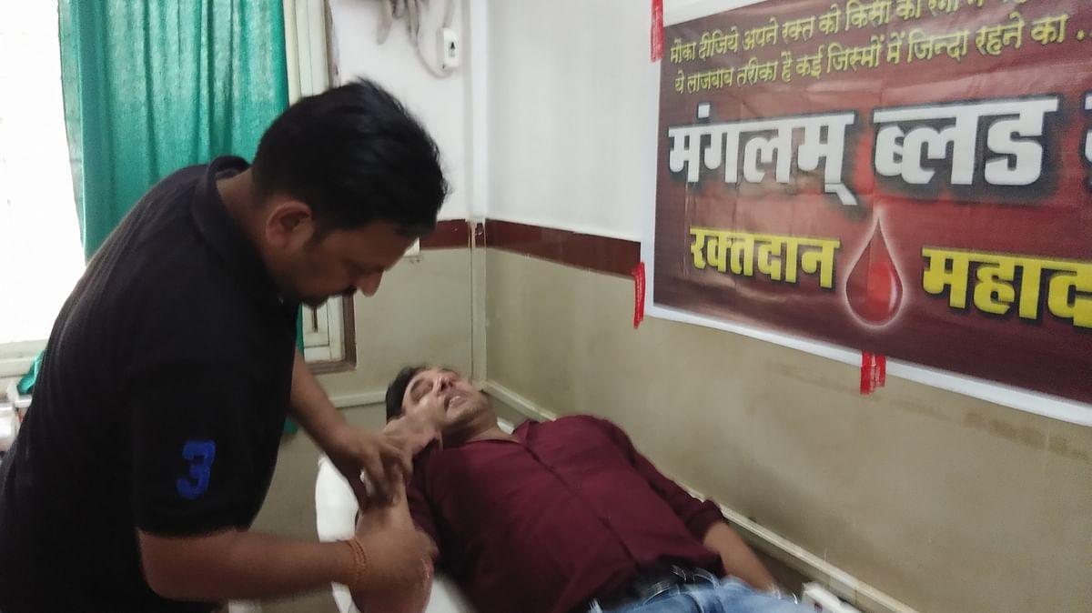 शिवपुरी के युवाओं ने पेश की मिशाल, अब ब्लडबैंक में रक्त की उपलब्धता की कमी नहीं होती।