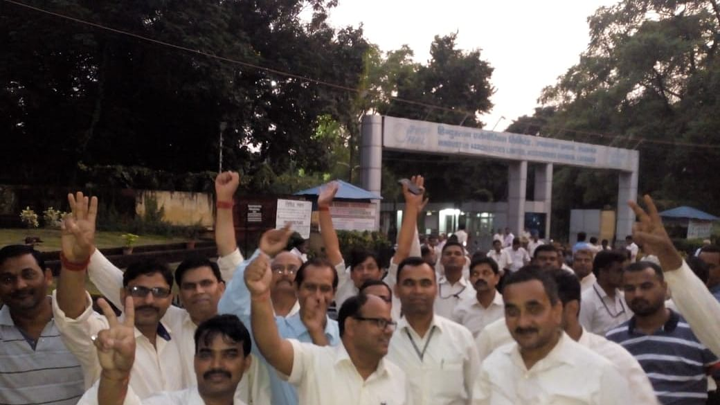 HAL Lucknow Employees Strike