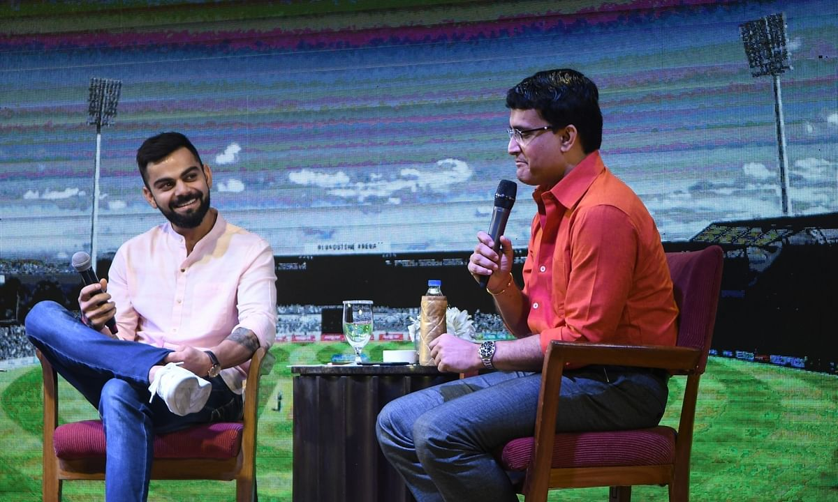 Indian cricket team's captain Virat Kohli and Sourav Ganguly