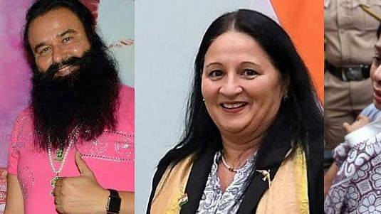 Honeypreet Insan,Gurmeet Ram Rahim,Indrani Mukerjea and Madi Sharma