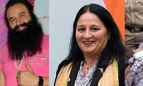 Honeypreet Insan,Gurmeet Ram Rahim,Indrani Mukerjea and Madi Sharma