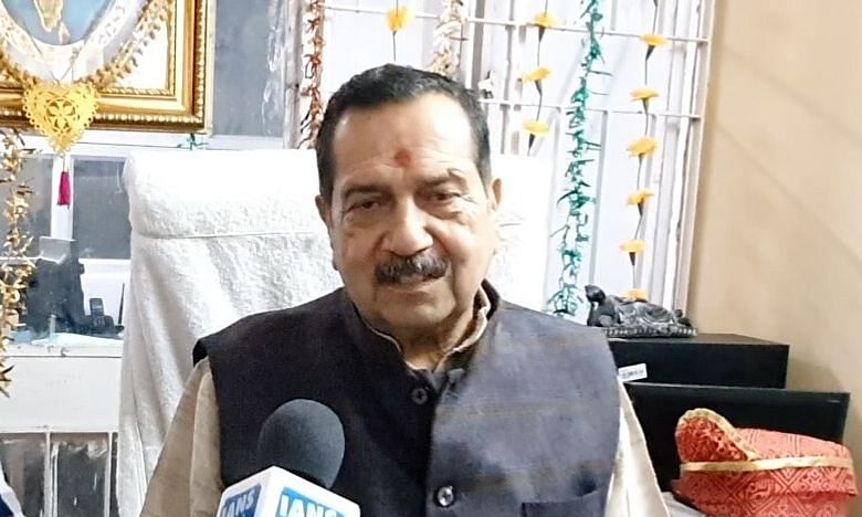 RSS leader Indresh Kumar during an exclusive interview with IANS