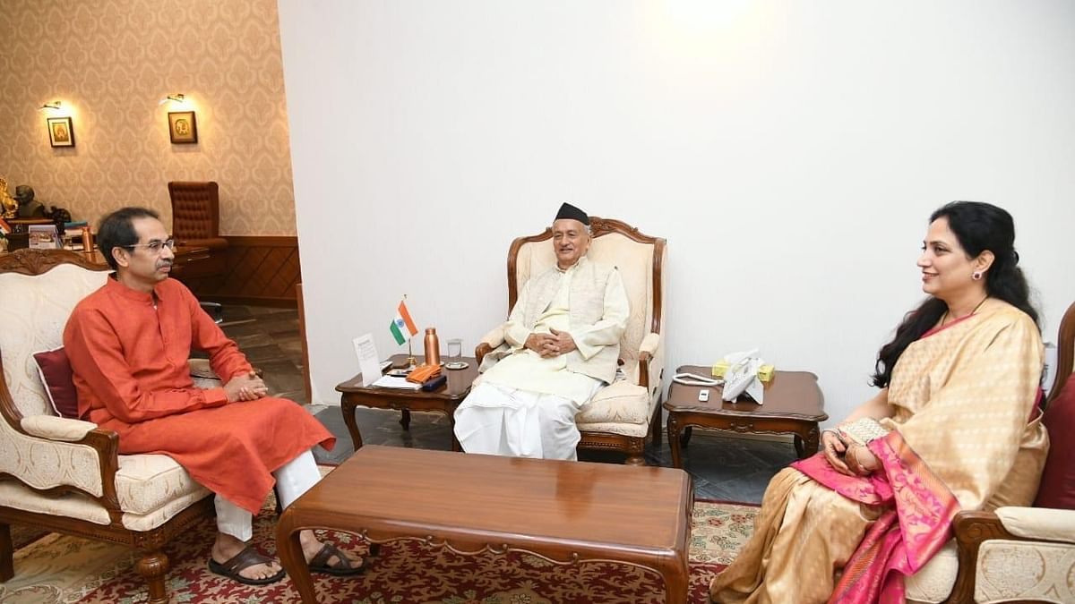Maha CM-designate Uddhav Thackeray, wife call on Guv