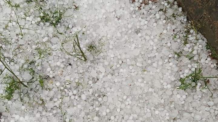 Heavy rain with hail in Bundelkhand