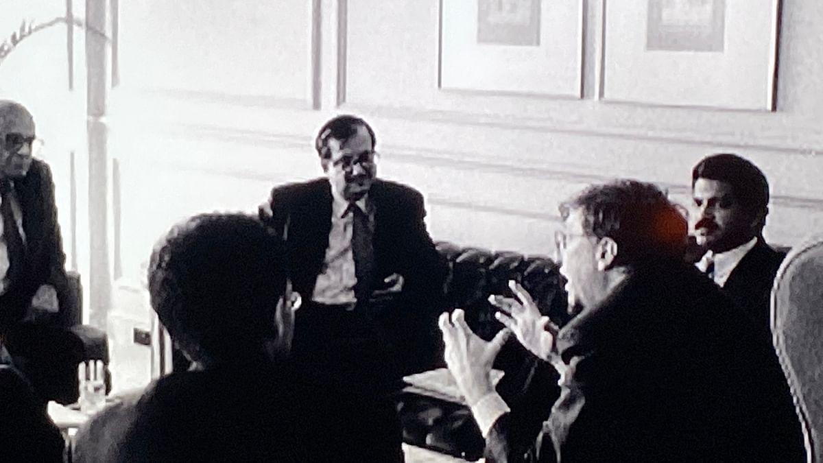 Anand Mahindra with Bill Gates