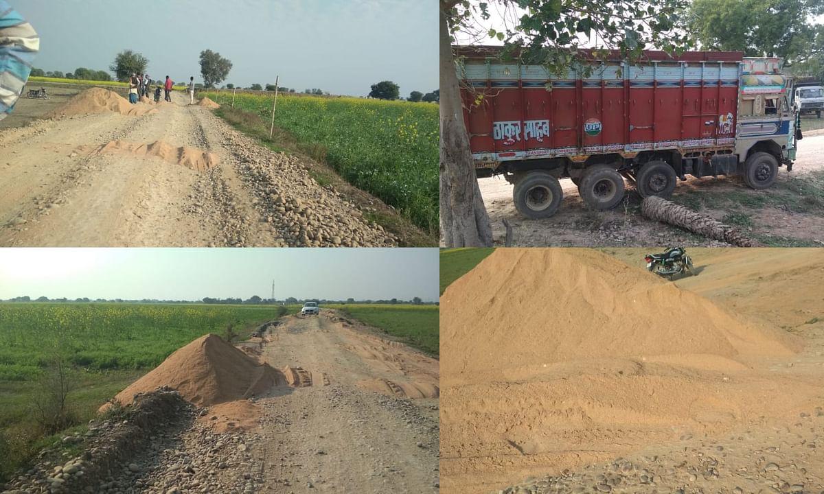 ग्रामीण सडकों को ओवरलोड वाहनों ने नेस्तनाबूत कर दिया, प्रशासन गहन निद्रा में।