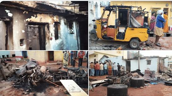 दंगाइयों ने हिन्दू घरों को लूटा और जलाया