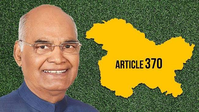 President Ramnath Kovind on article 370