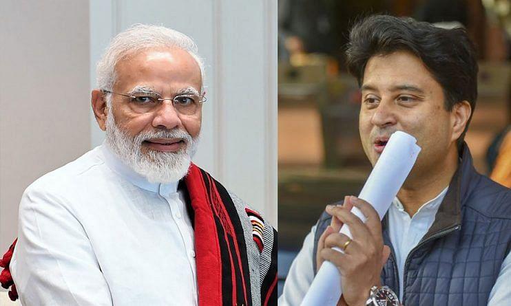 Jyotiraditya Scindia and PM Modi