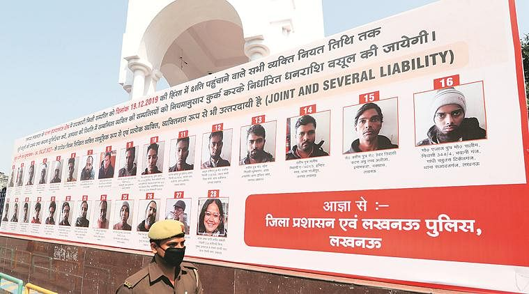 Rioters Hoardings in Lucknow