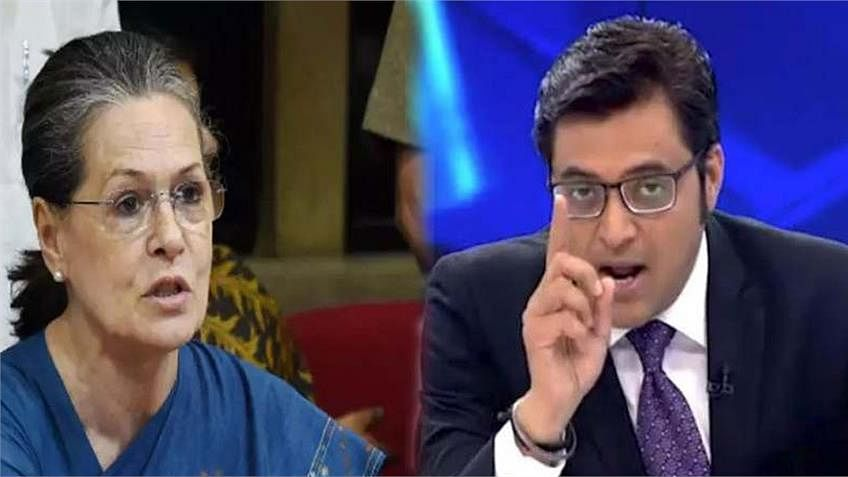 Arnab Goswami on Sonia Gandhi
