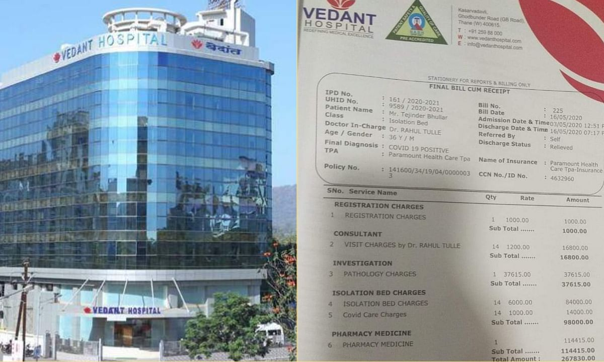 Vedanta Hospital Covid 19 Positive Patient Bill