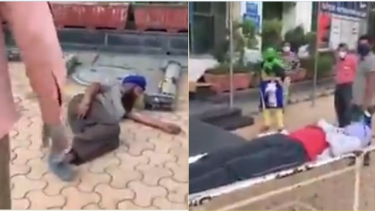 patient found lying on the floor in delhi