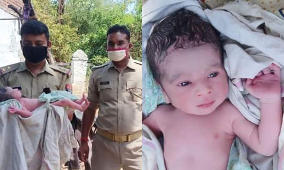 Newborn Baby Found in bushes in Banda UP