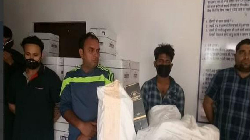 Rohit bainsla up police Constable Liquor smuggler